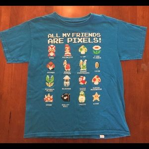 GUC Mario characters tee size Large